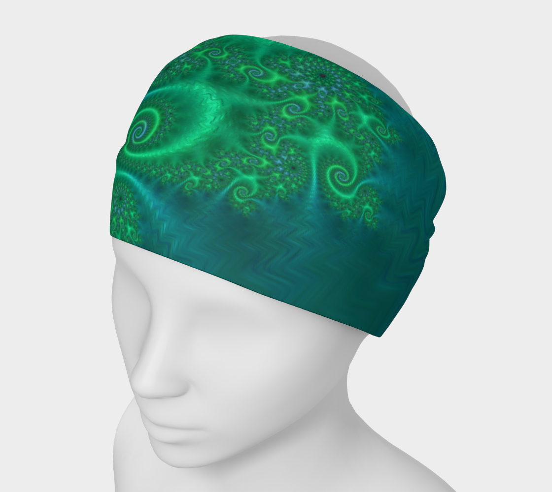 Velvet Dragon Green Headband preview