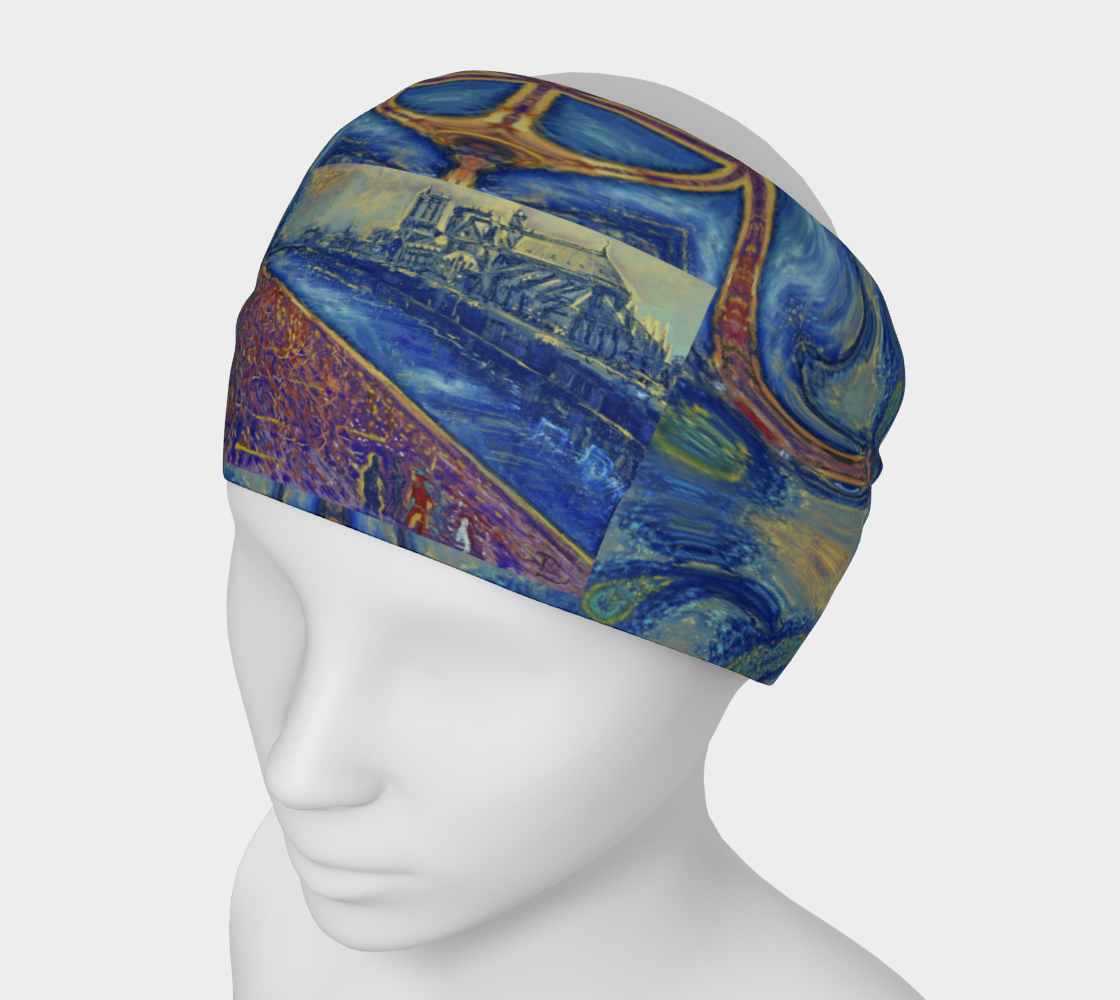 """""""Notre Dame Tribute: 4-15-19 by Lowell S.V. Devin"""" / Commemorative Headband I.  preview"""