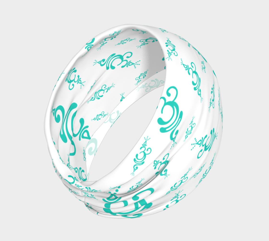Aperçu de Breathe Teal Cancer Headband  #2
