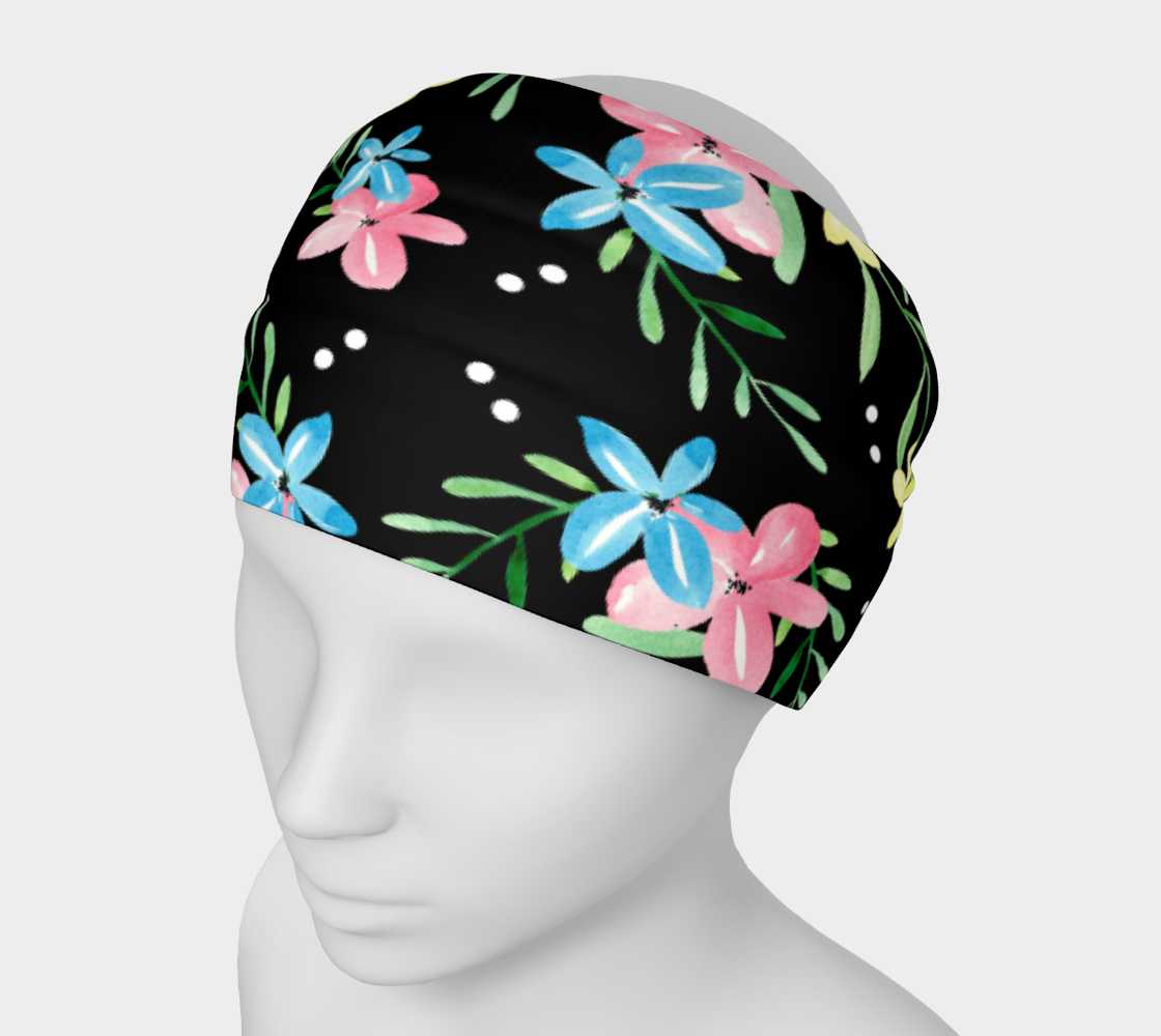 Floral Watercolor Headband preview