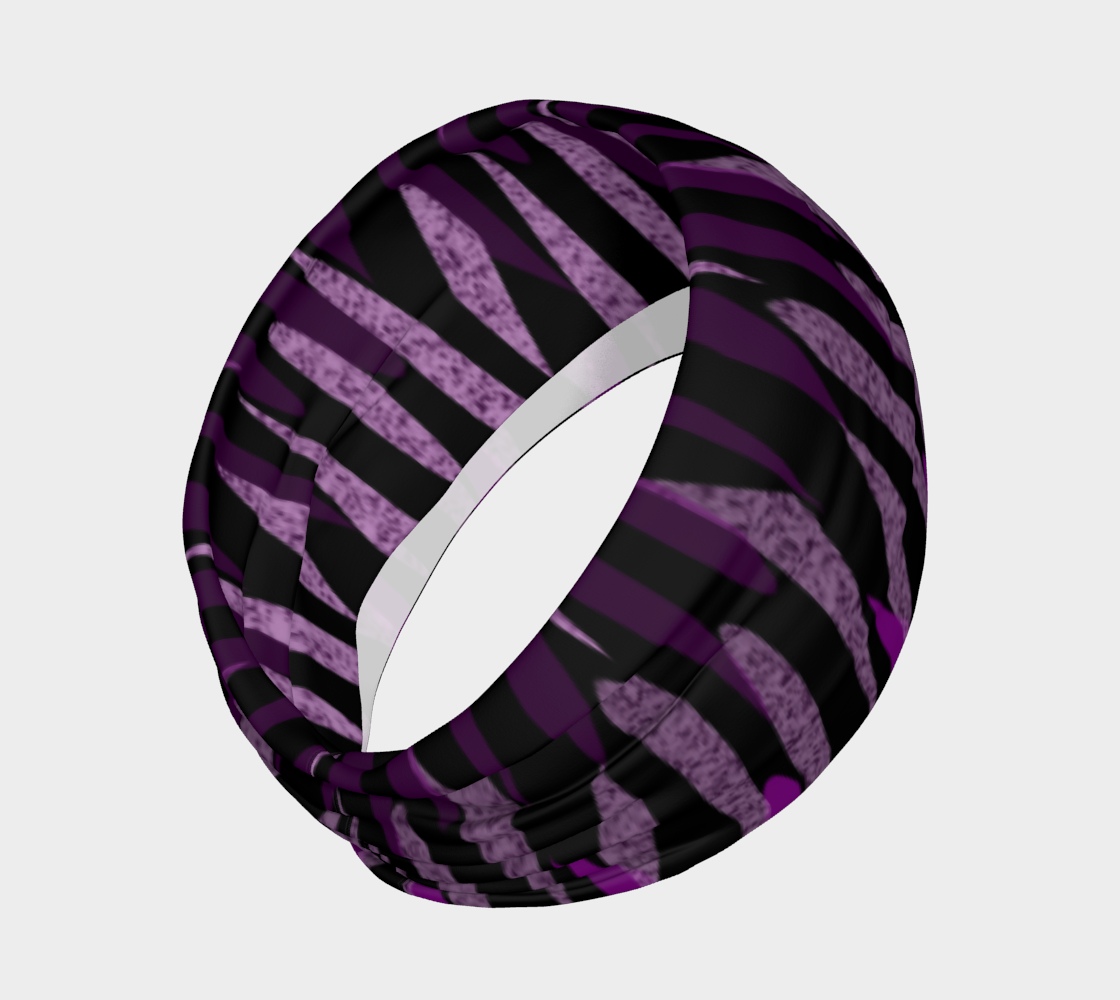 Purple Ice Abstract Headband preview #2