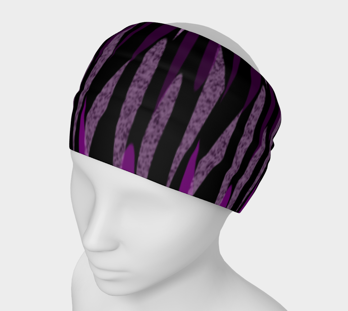 Purple Ice Abstract Headband preview