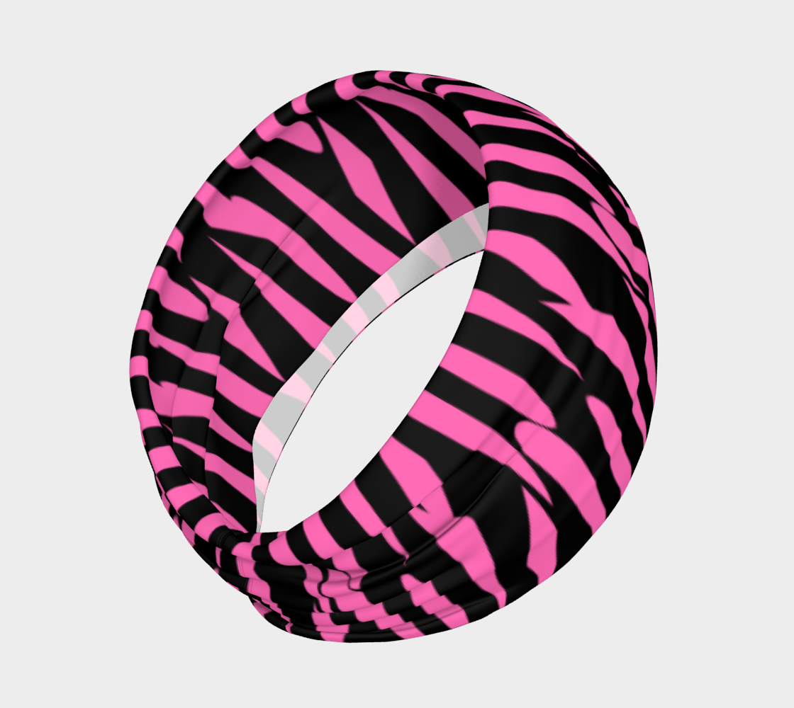 Pink and Black Ice Abstract Headband preview #2