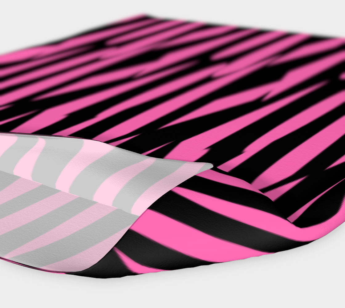 Pink and Black Ice Abstract Headband preview #4