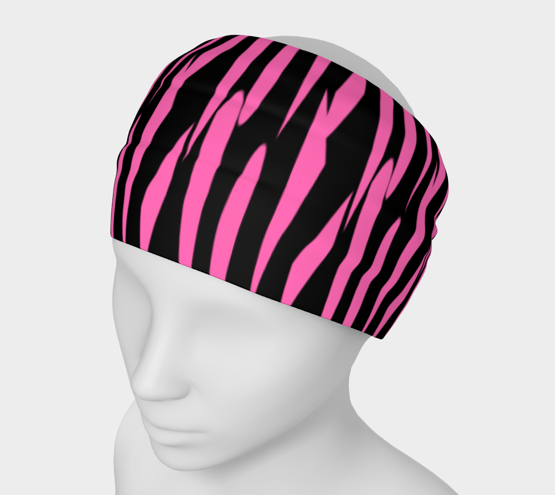 Pink and Black Ice Abstract Headband preview