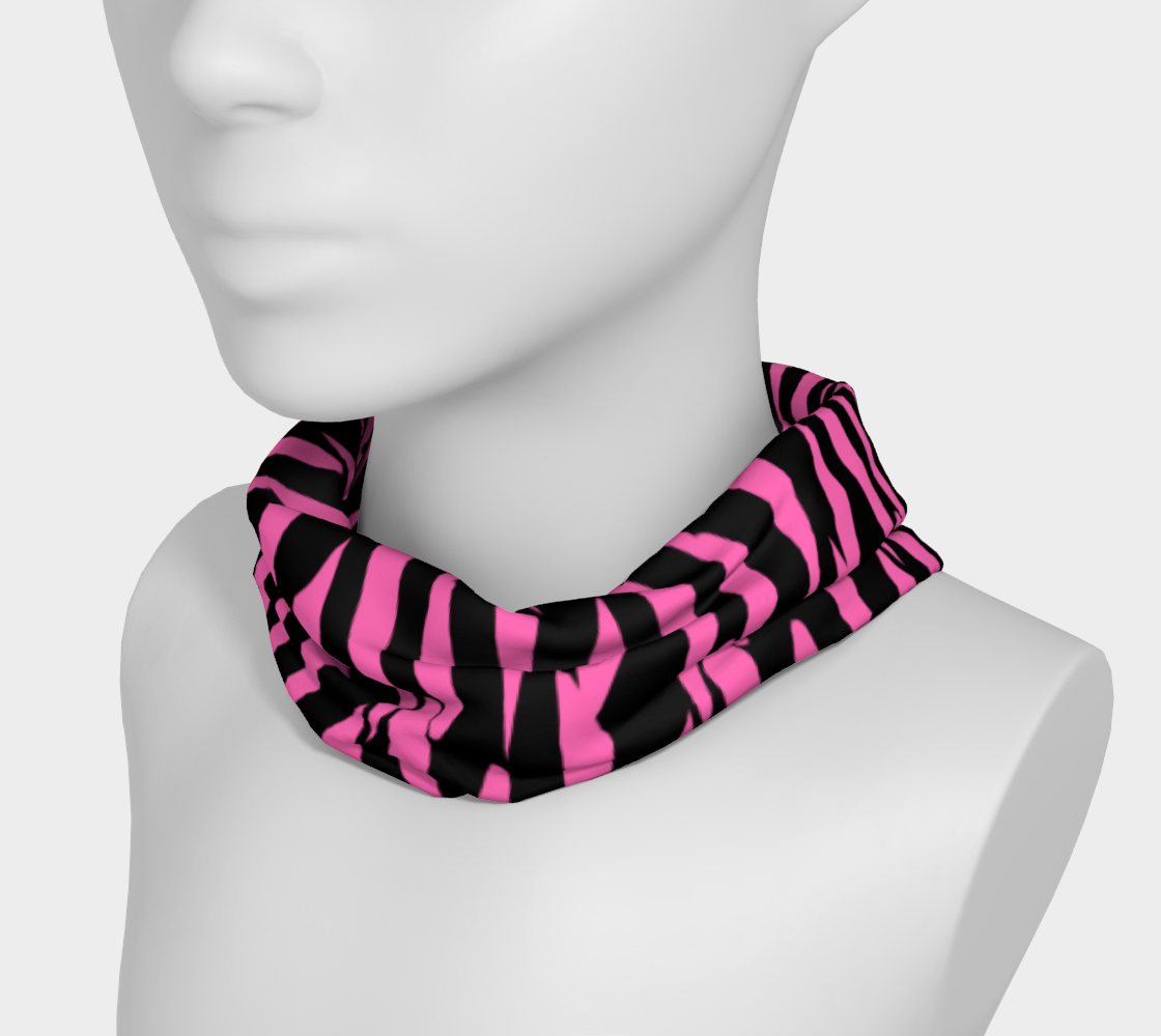 Pink and Black Ice Abstract Headband preview #3