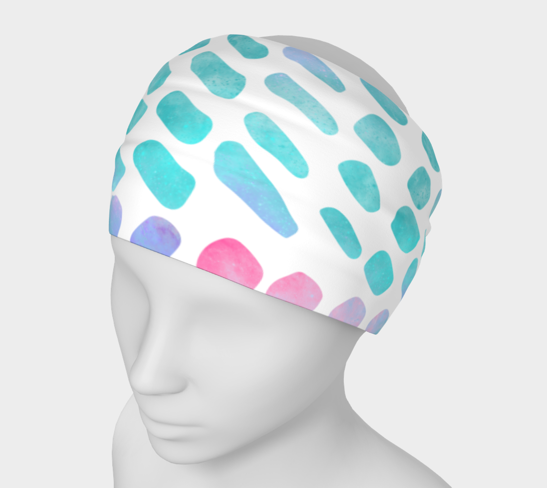Pink and Blue Cotton Candy Headband preview