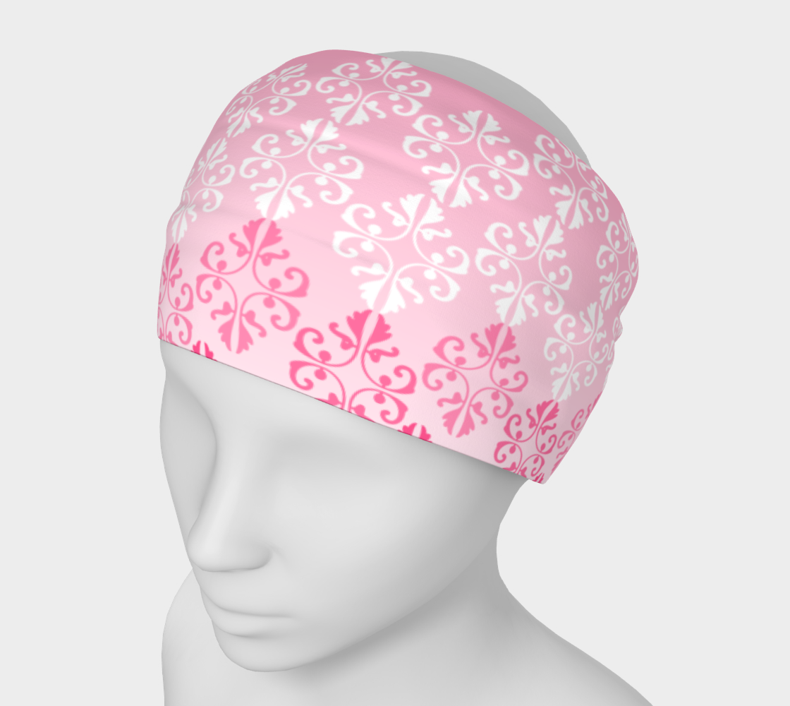 Pink Ombre Damask Pattern  Headband preview