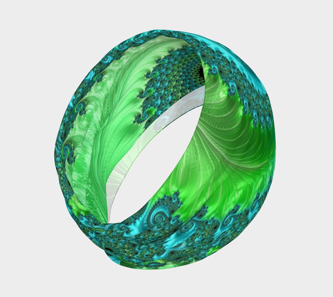 Aperçu de Feathery Flow Green Headband #2