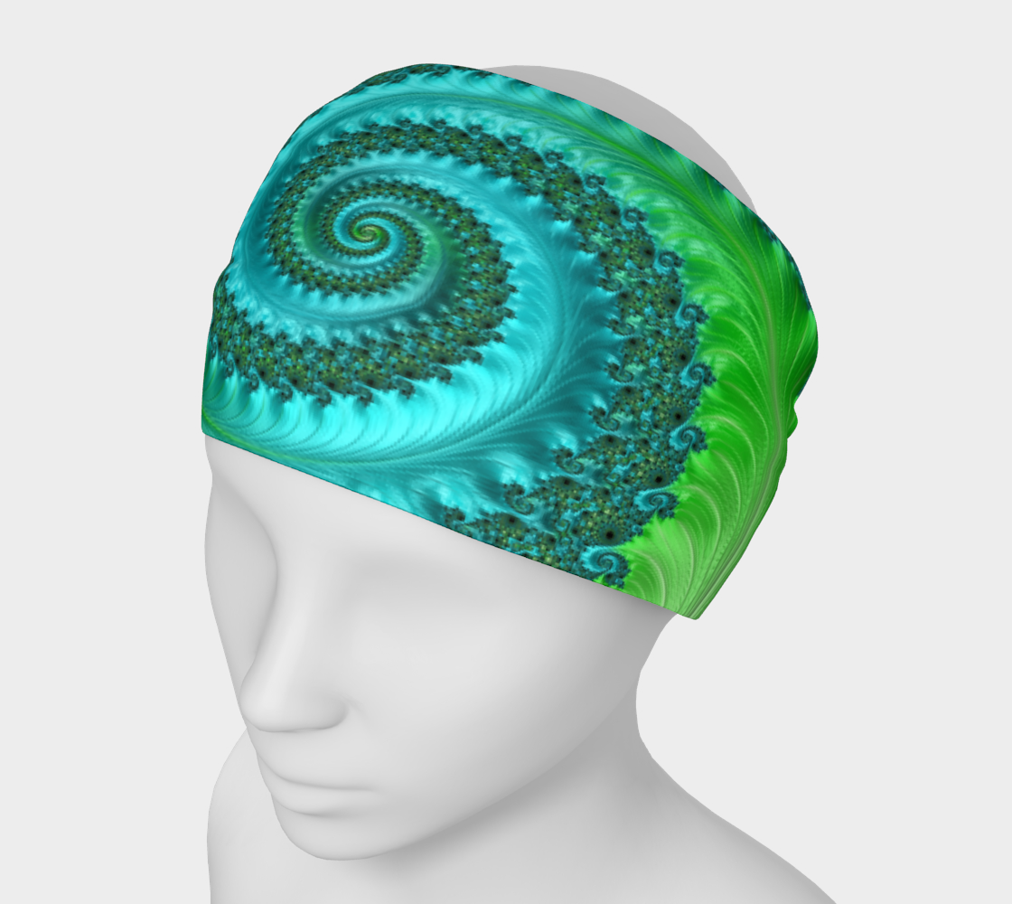 Feathery Flow Green Headband preview