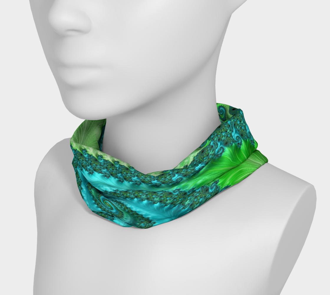 Aperçu de Feathery Flow Green Headband #3