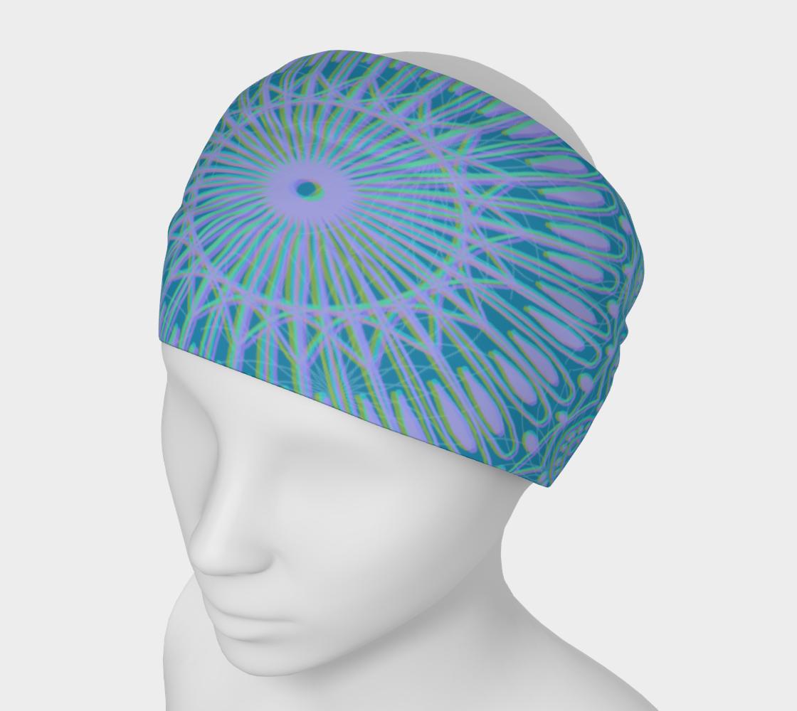 Aperçu de Boho Style Blue Headband #1