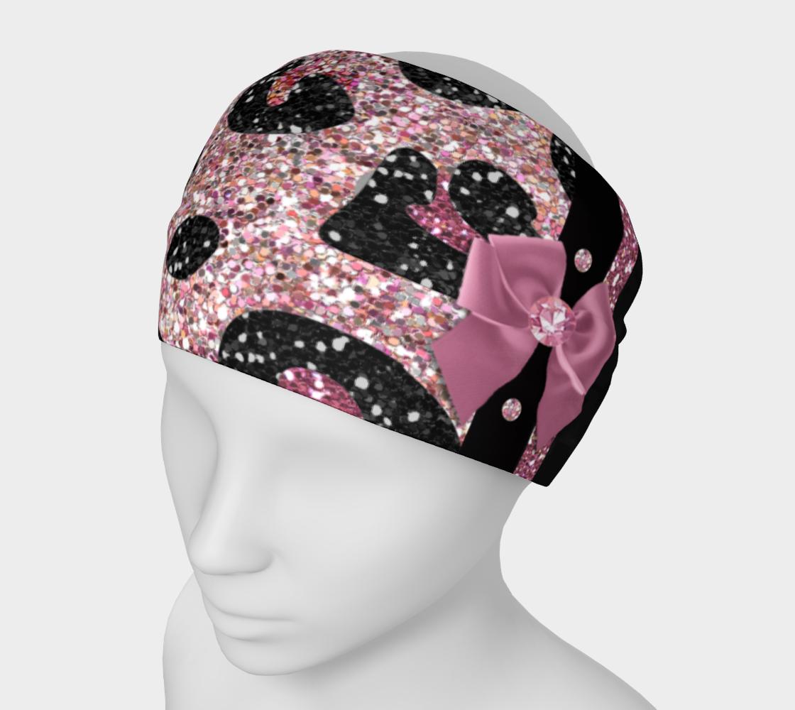Pink Black Leopard Glitter Print preview