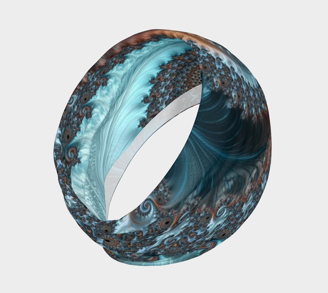 Aperçu de Feathery Flow Blue Headband  #2