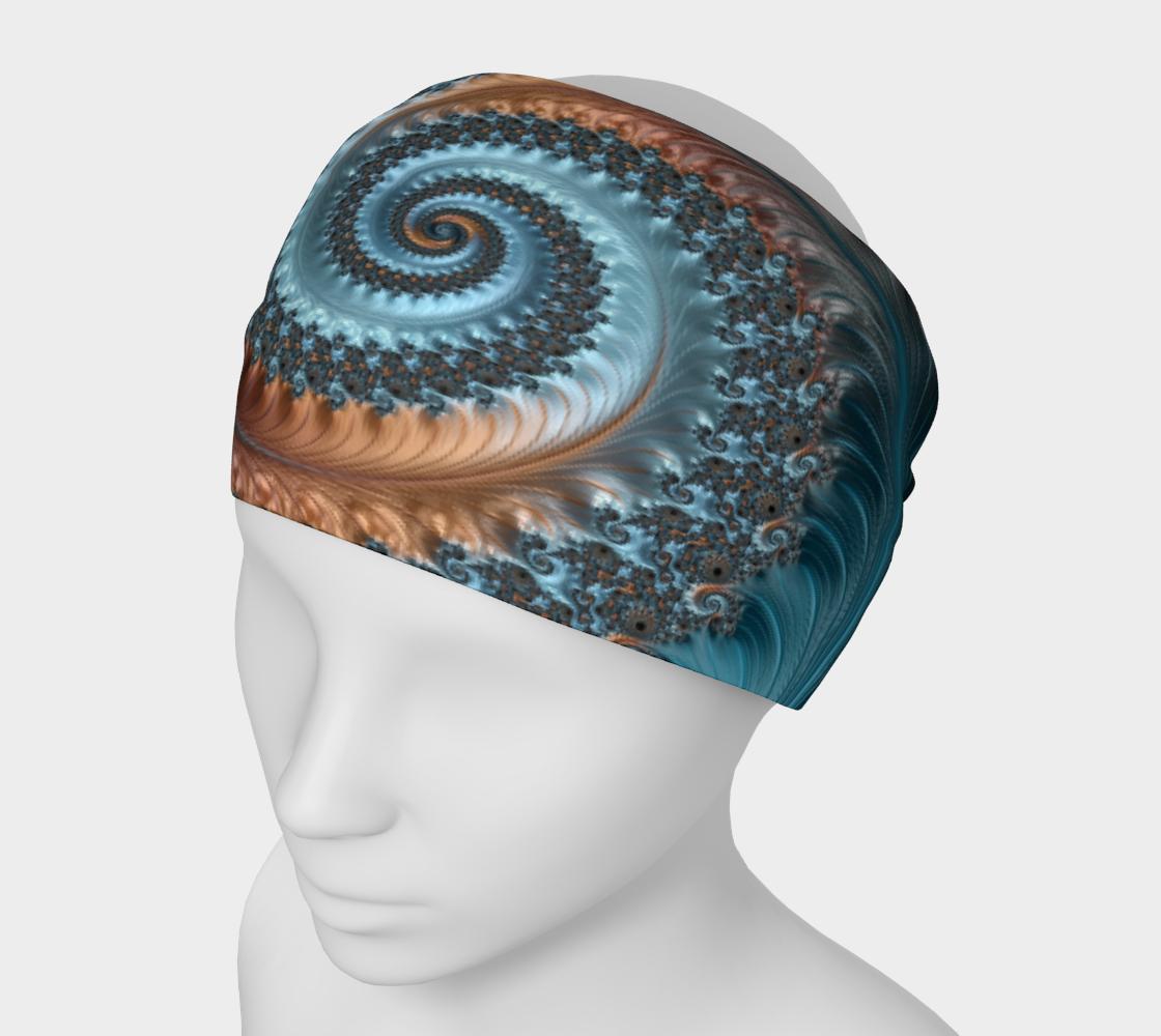 Aperçu de Feathery Flow Blue Headband  #1