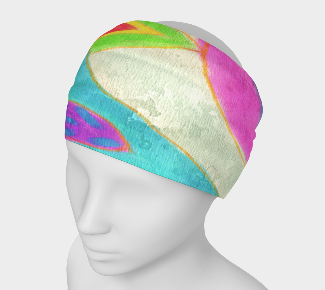 Aperçu de Summer Daze Abstract Art Headband #1