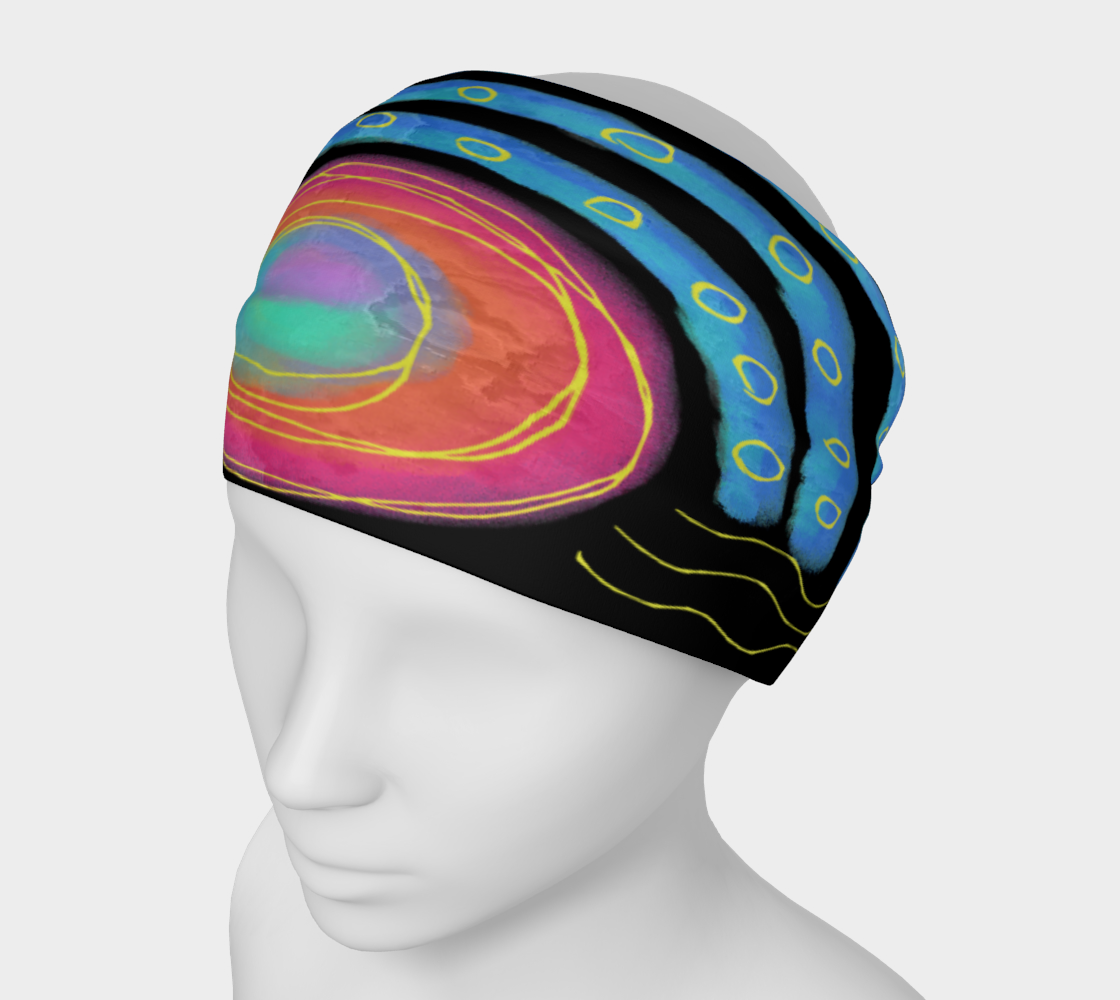 Colorful Abstract Sun Digital Print Headband preview
