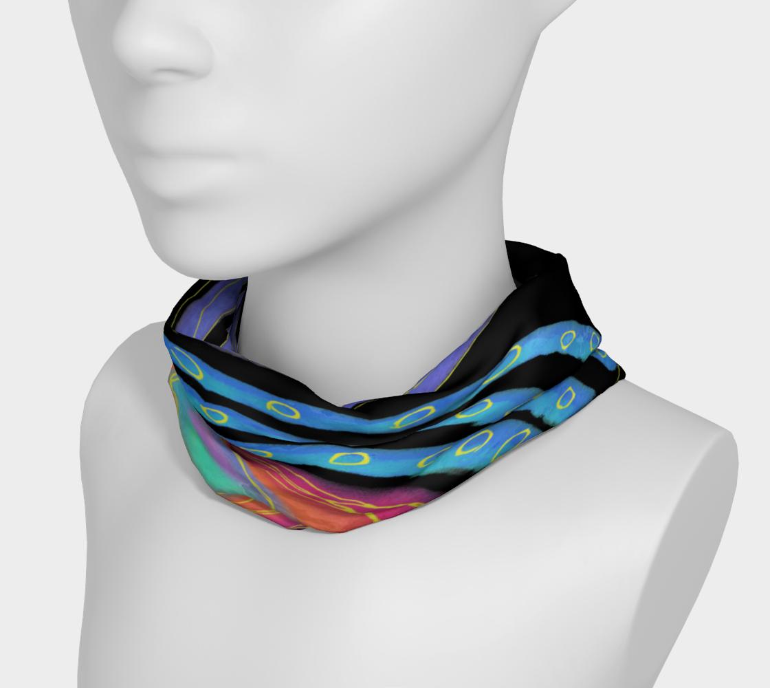 Colorful Abstract Sun Digital Print Headband preview #3