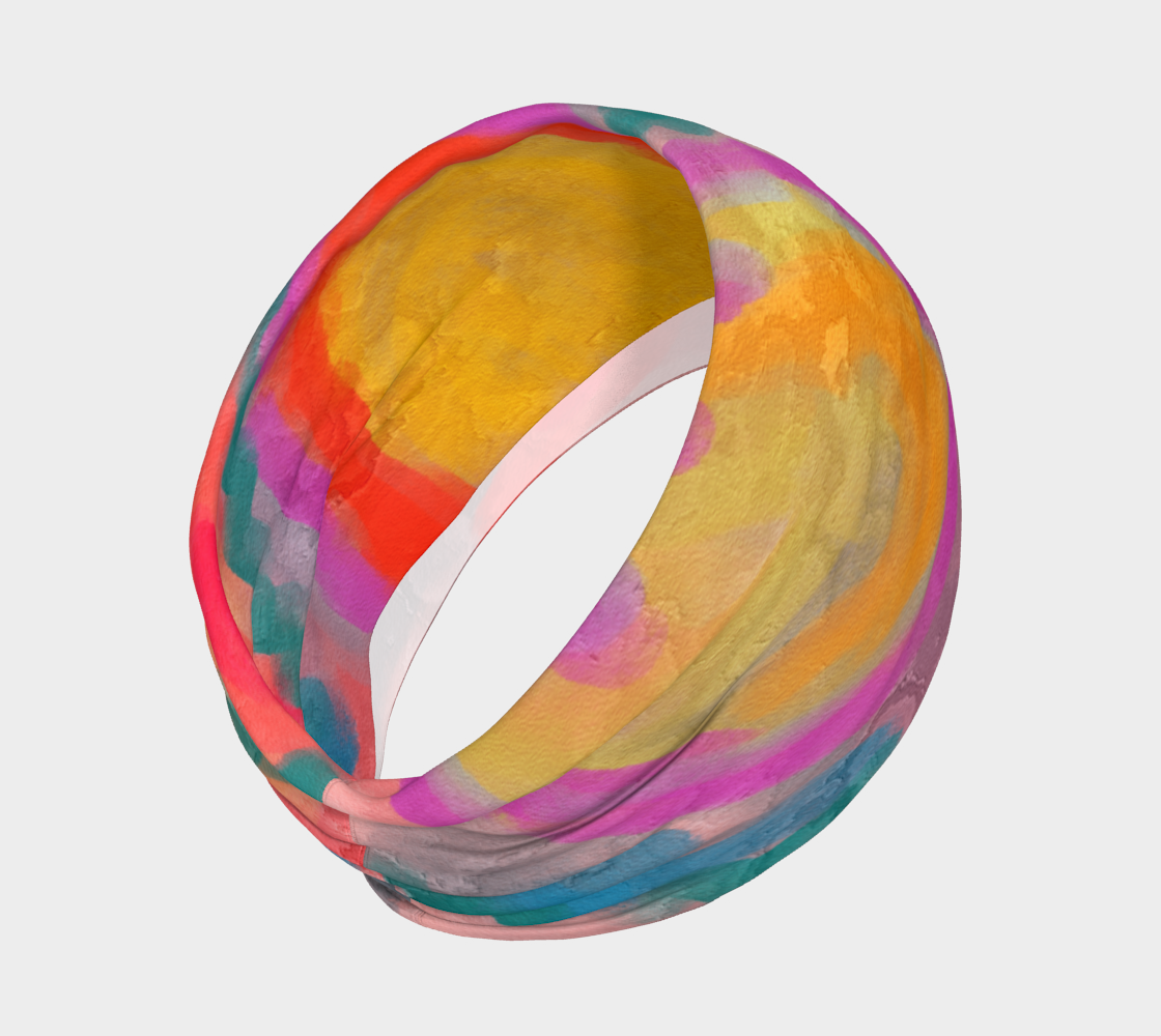 Aperçu de Spring Colorful Abstract Digital Painting Headband #2