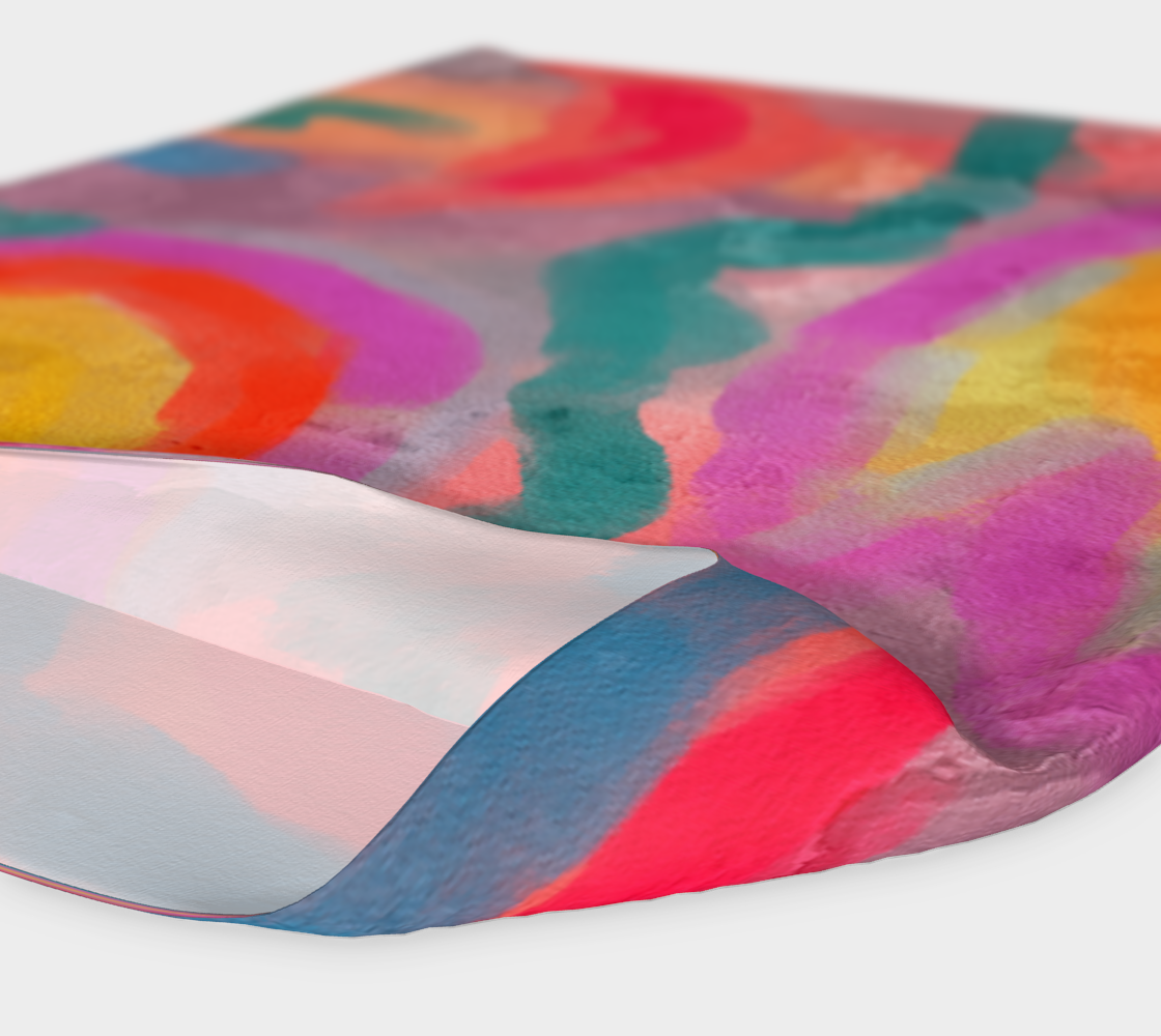 Aperçu de Spring Colorful Abstract Digital Painting Headband #4