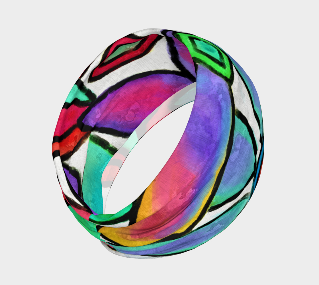 Funky Garden Abstract Digital Print Headband preview #2