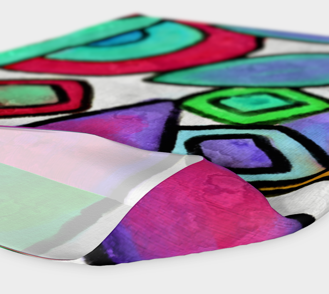 Funky Garden Abstract Digital Print Headband preview #4