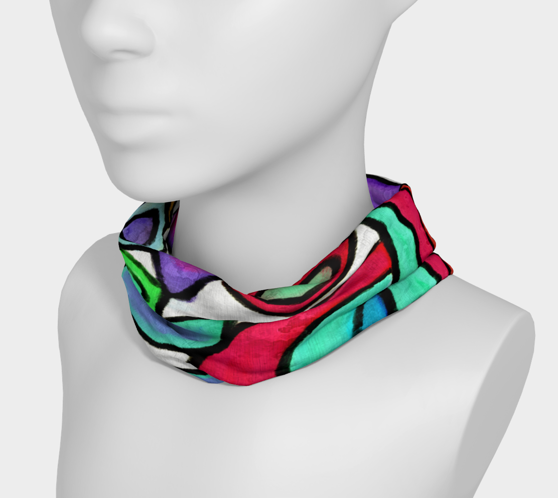 Aperçu de Funky Garden Abstract Digital Print Headband #3