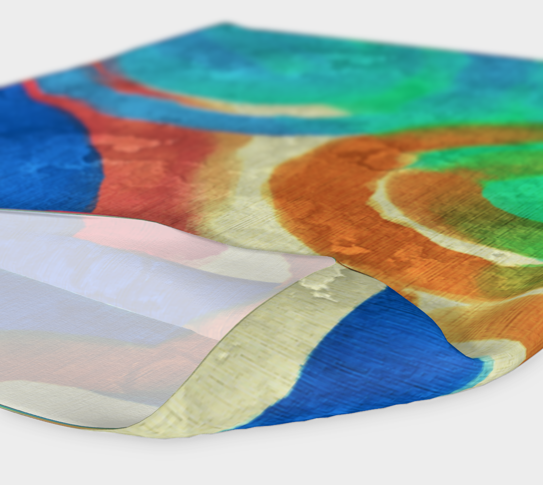 Sun and Sea Abstract Digital Painting Headband preview #4