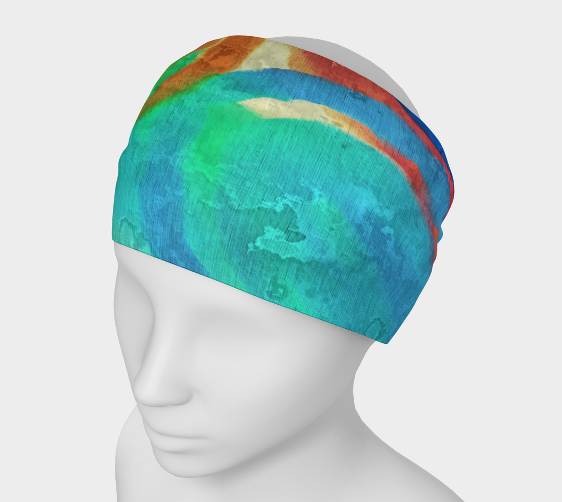 Sun and Sea Abstract Digital Painting Headband preview