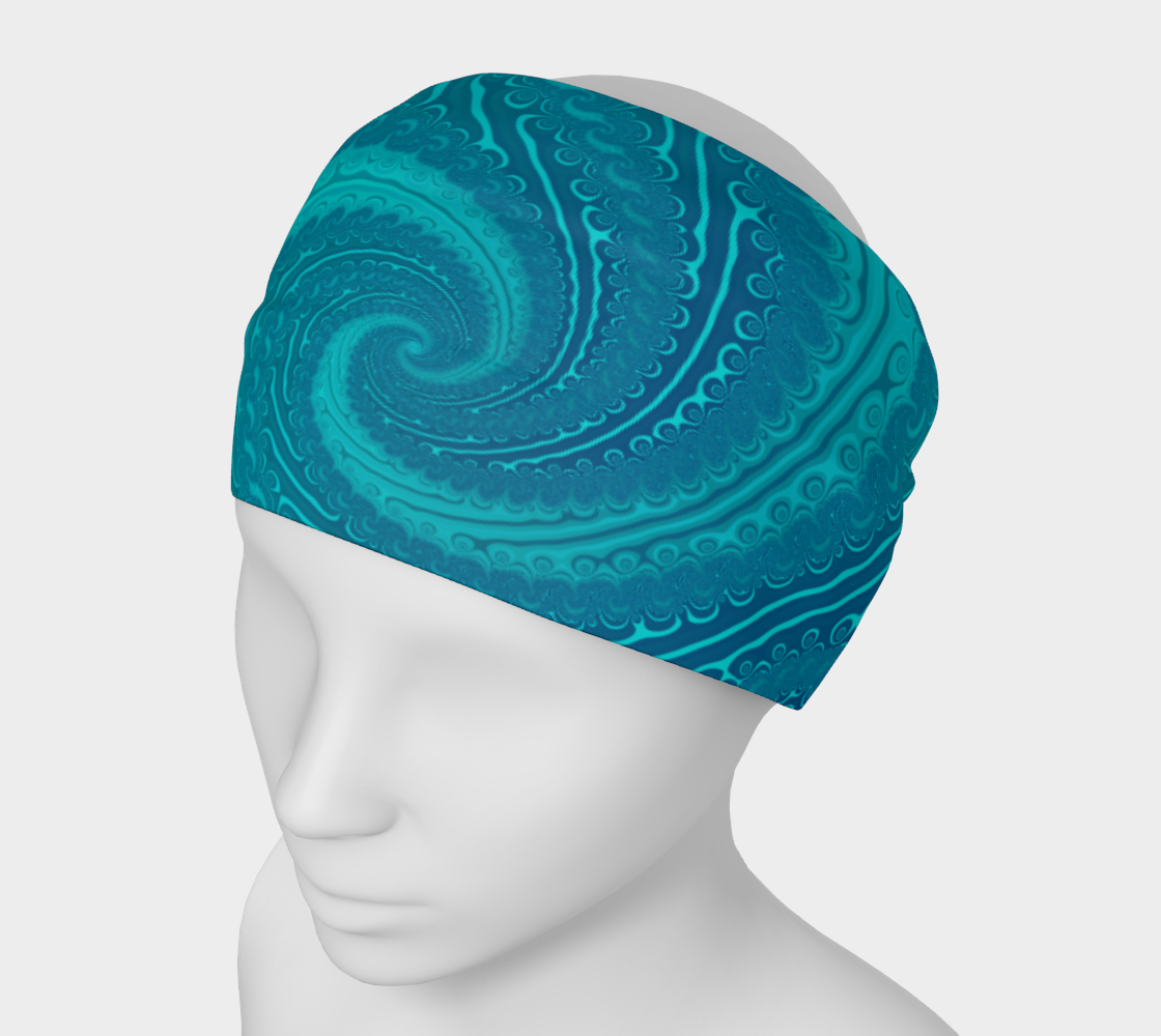 Ocean Waves Turquoise Blue preview