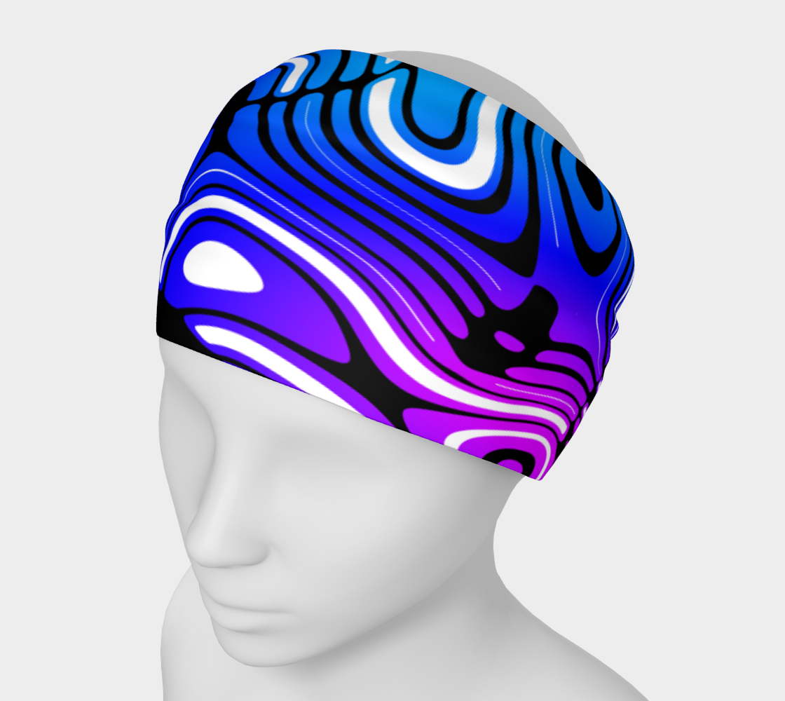 Blue and Purple Swirl Stripe Pattern preview