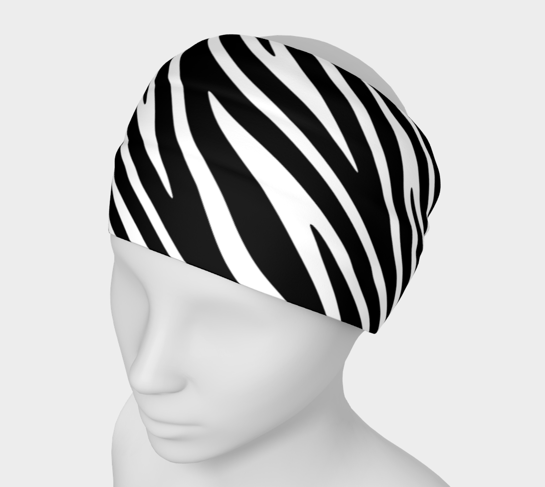 Zebra Stripe Pattern Black and White preview
