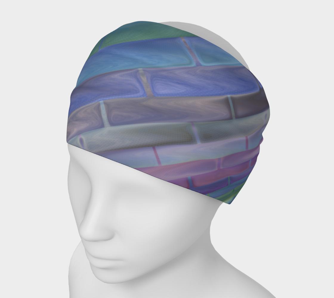 Pastel Blue Green Purple Stripe Pattern preview
