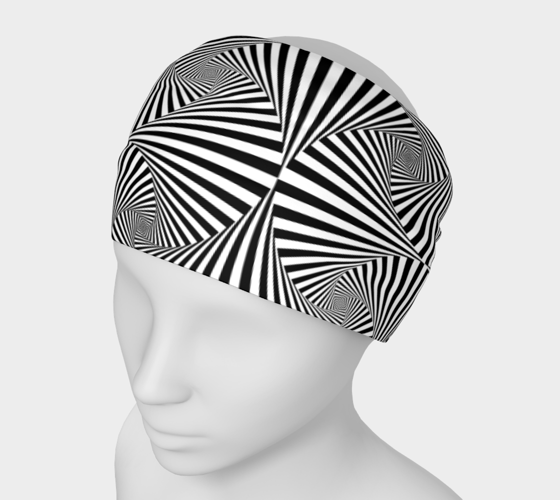 Hypnotic Black and White Stripe Geometric Pattern preview