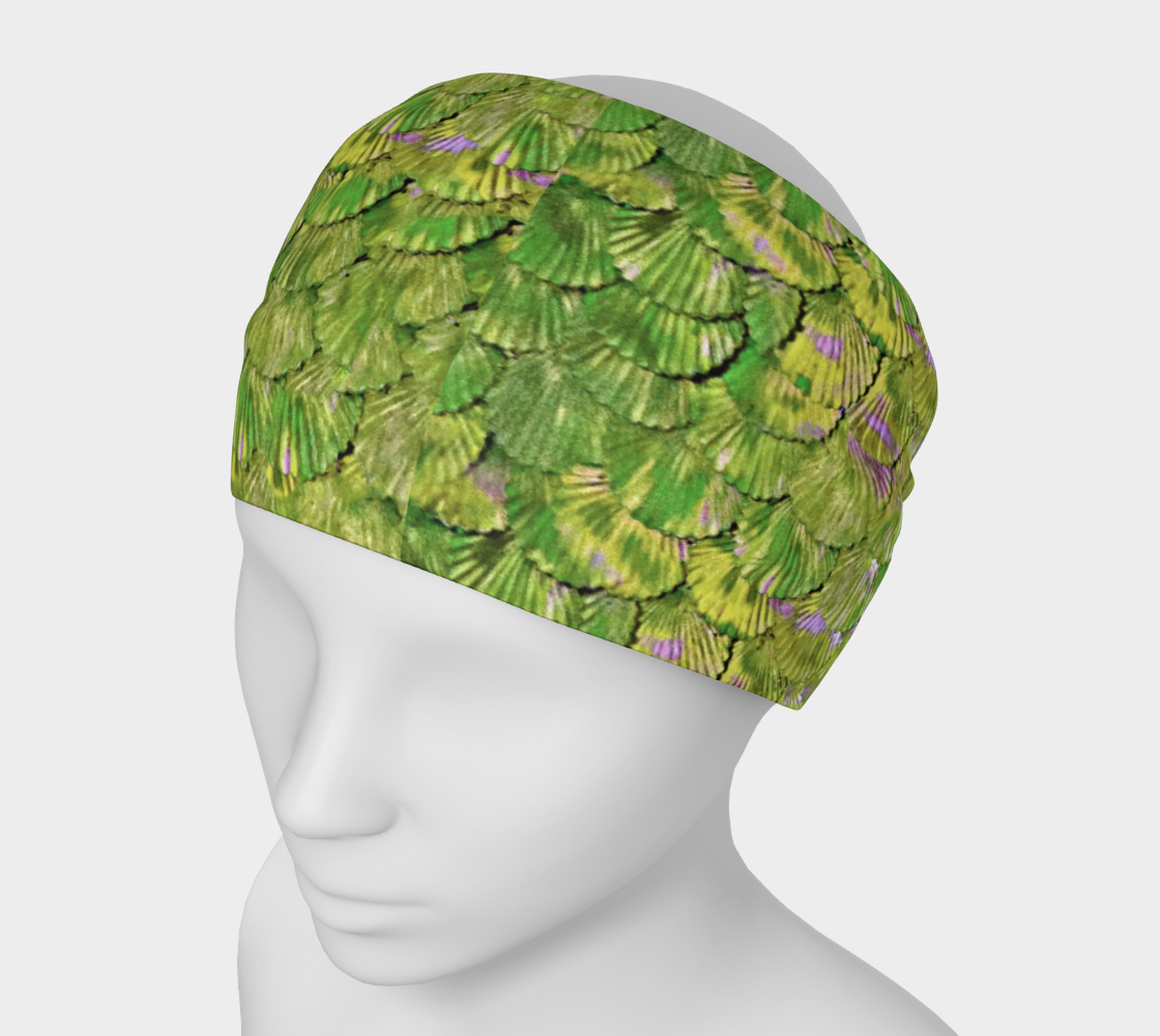 Citrus Green Mermaid Scale Headband preview