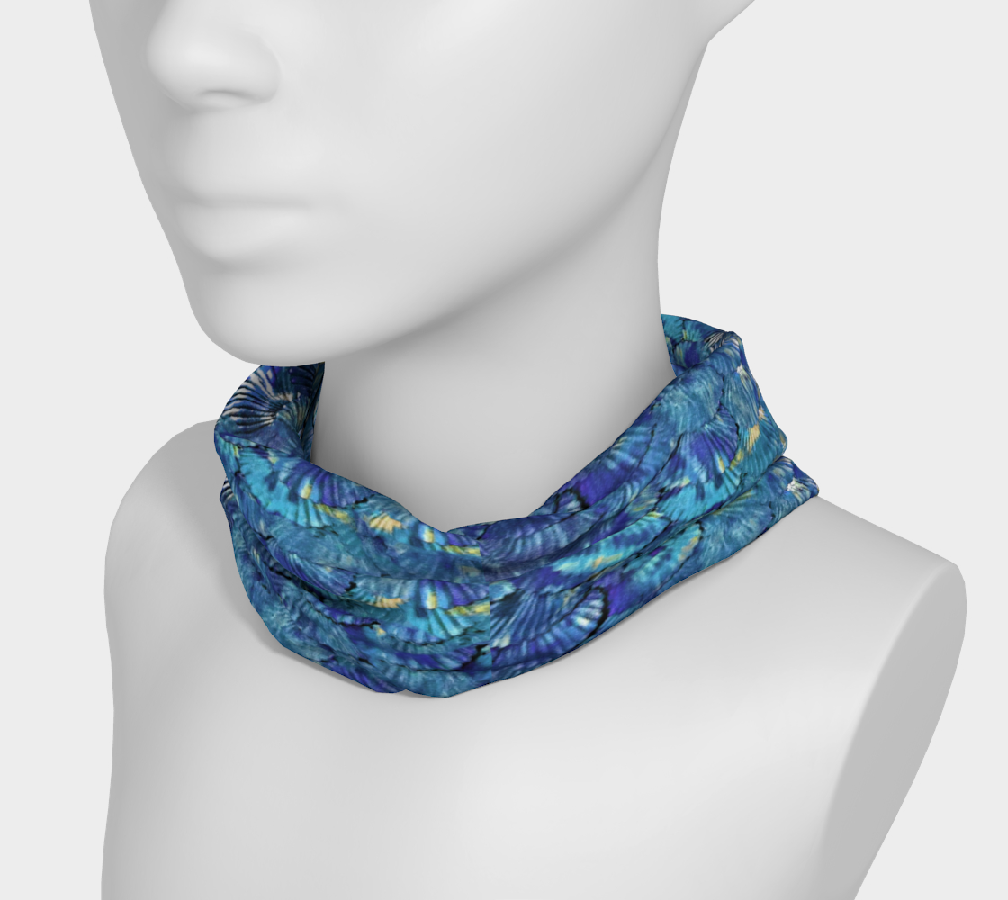 Blue Mermaid Scale Headband preview #3