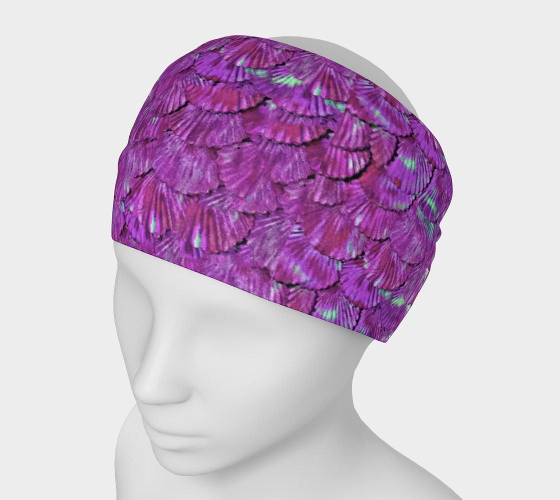 Purple Mermaid Scale Headband 3D preview