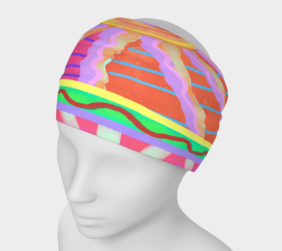 Sunspot Abstract Digital Painting Headband preview