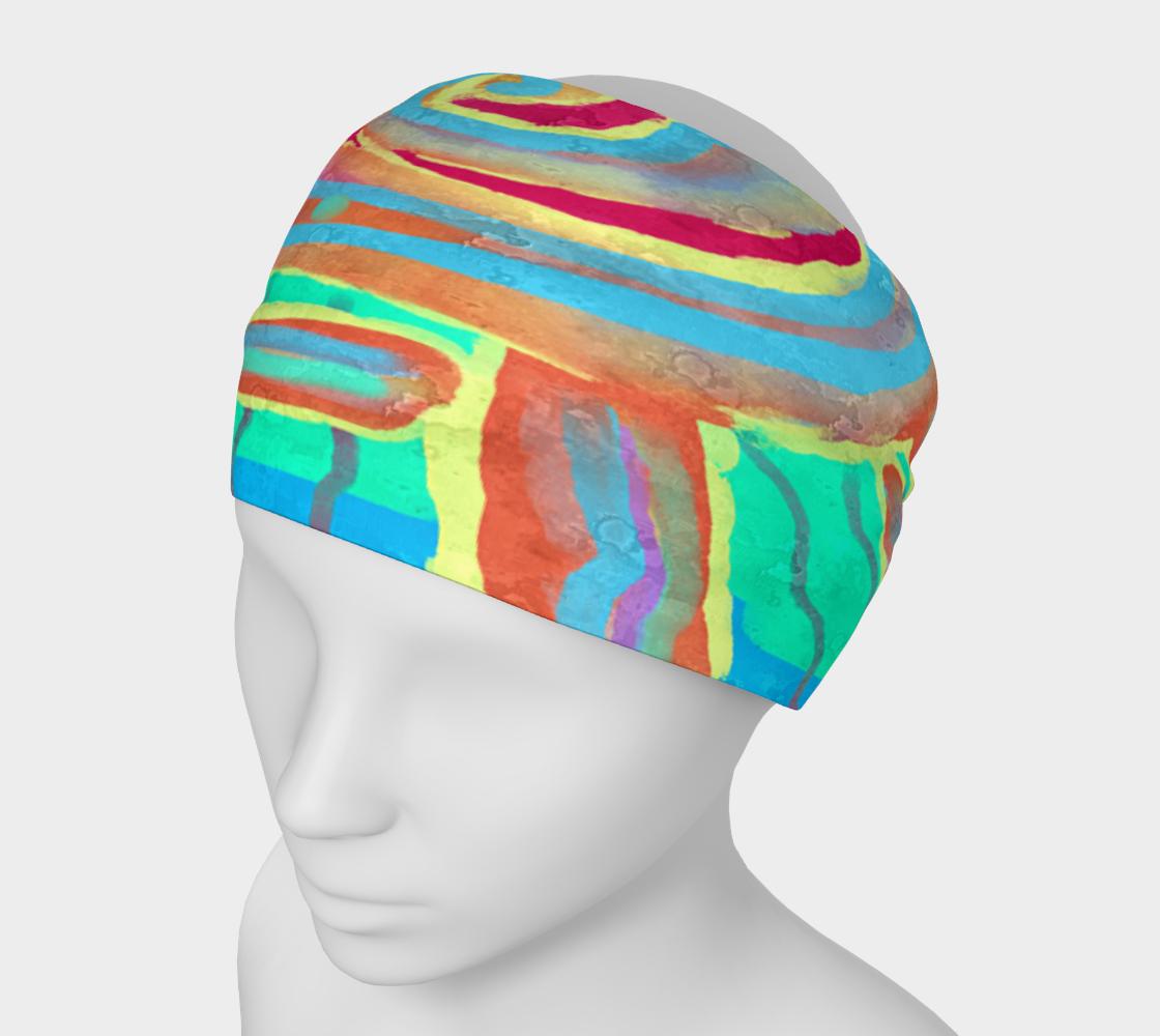 Sunburst Abstract Digital Painting Headband preview
