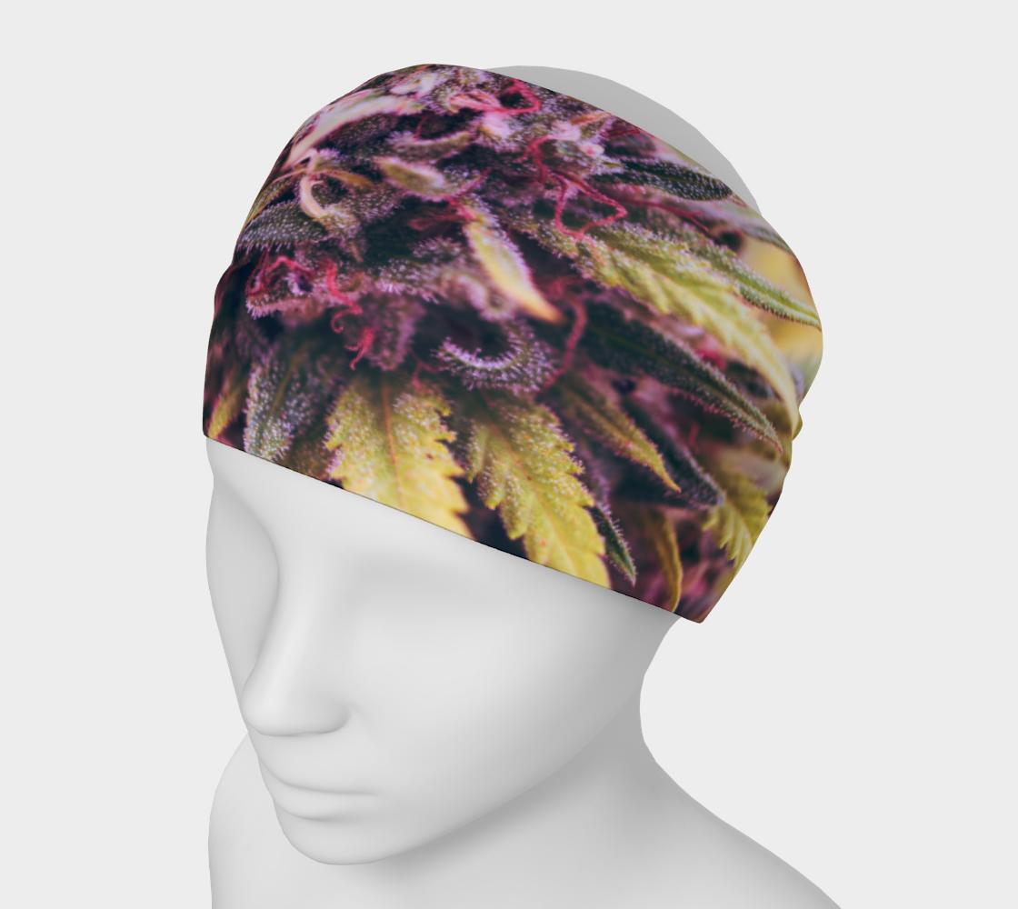 Headband Mask - Cannabis Flower Bud Purple preview