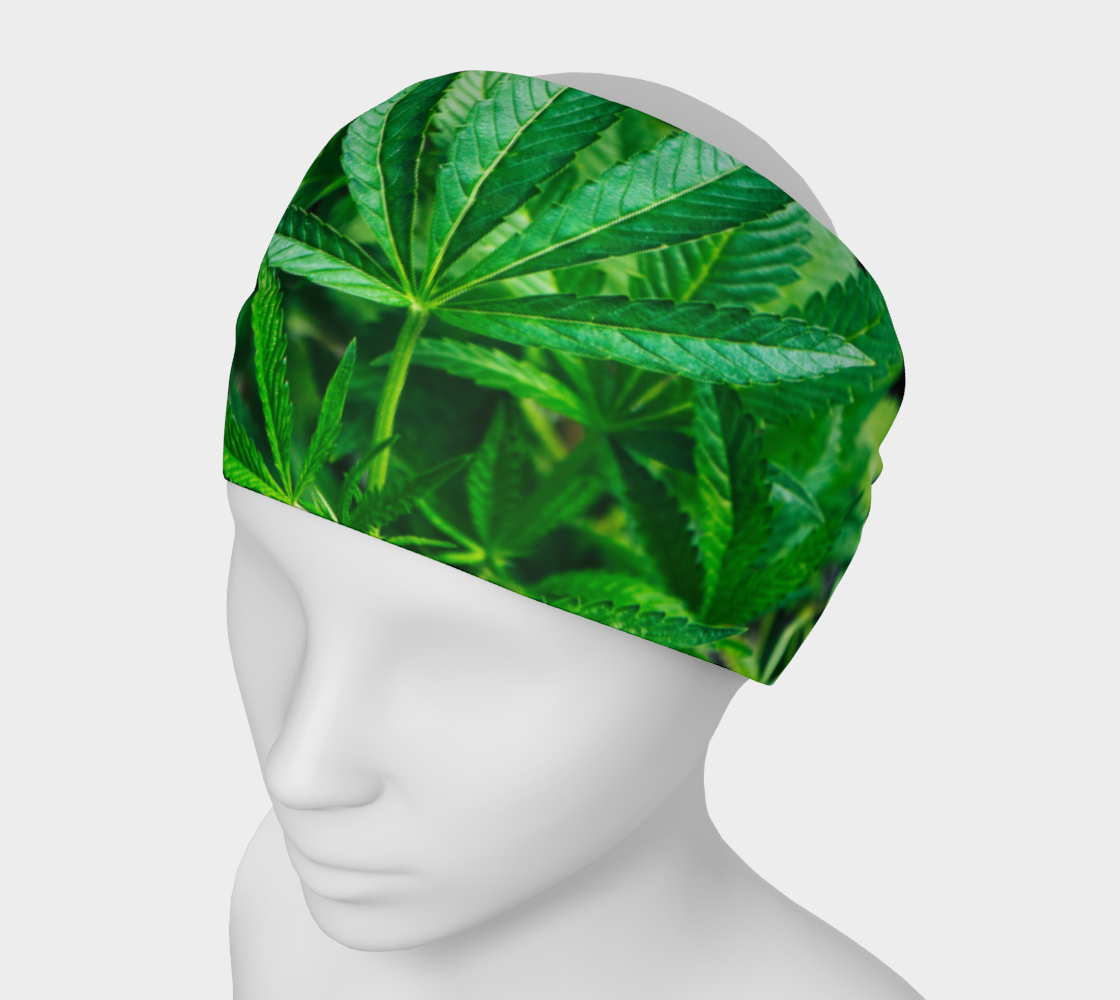 Headband Mask - Cannabis Leaves 2 preview