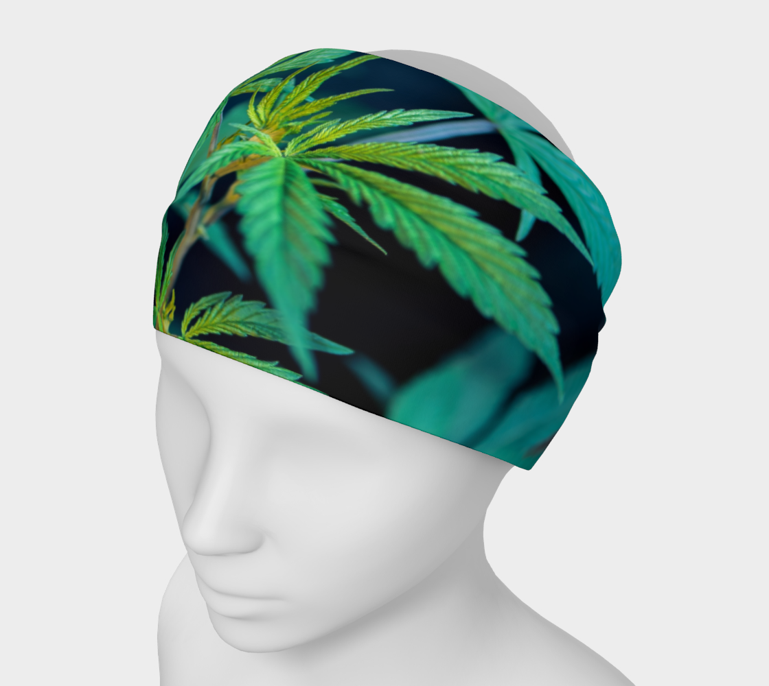 Headband Mask - Cannabis Leaves 1 preview