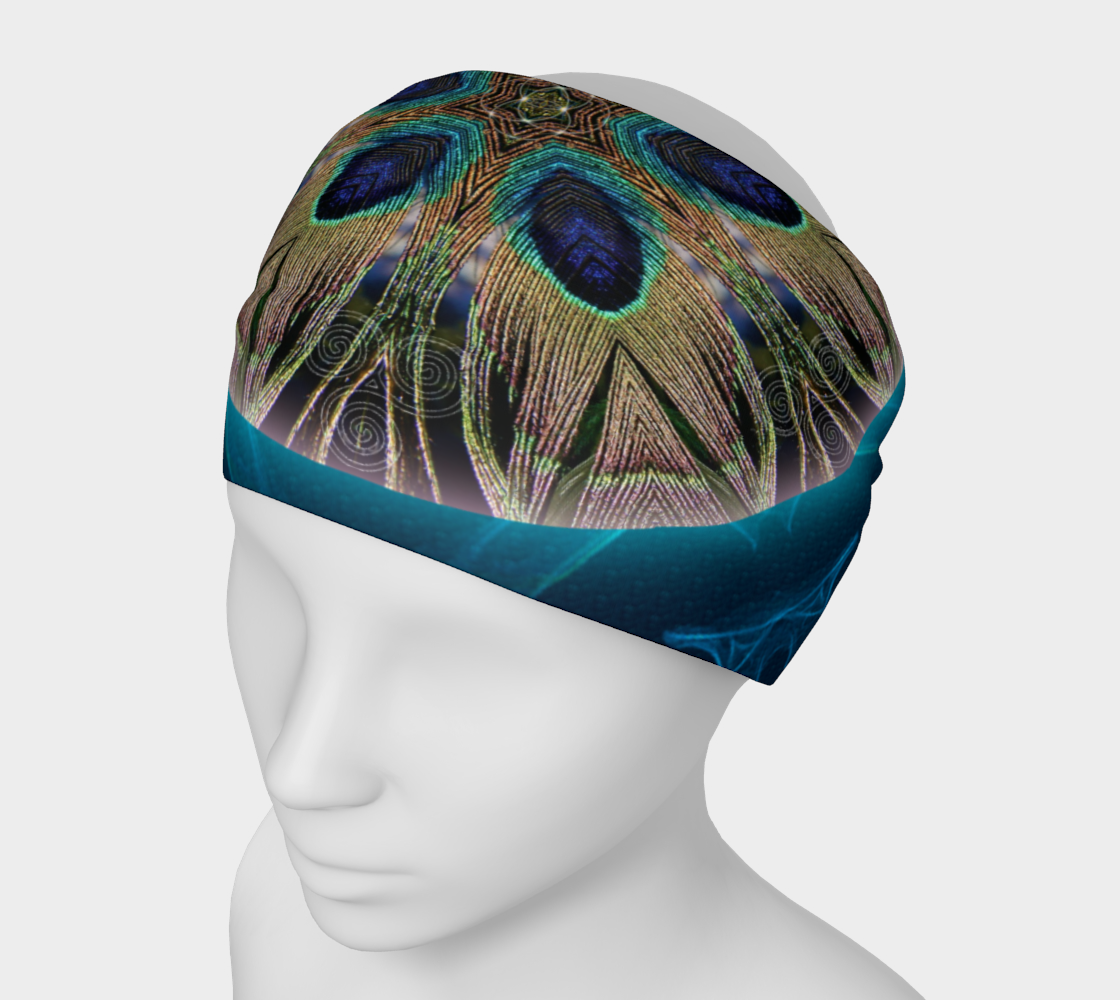 Peacock Power Headband & Face Covering preview