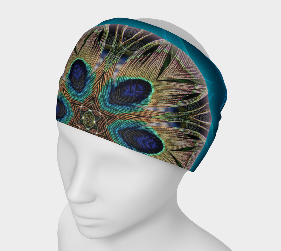 Peacock Power Mandala 3 Headband & Face Covering preview