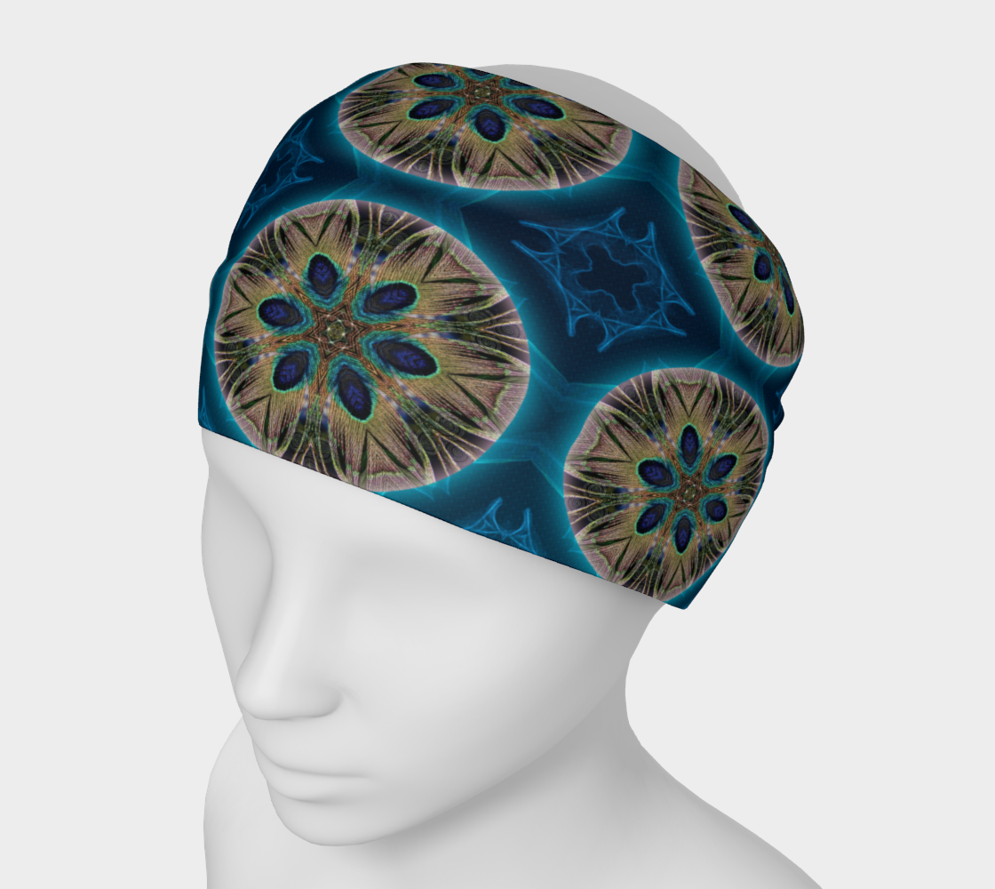 Peacock Power Mandala 5 Headband & Face Covering preview
