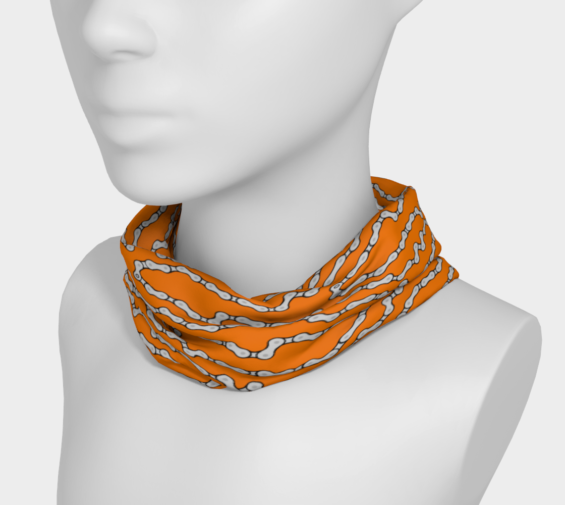 Bike Chain Headband/scarf/nose mask- Orange preview #3