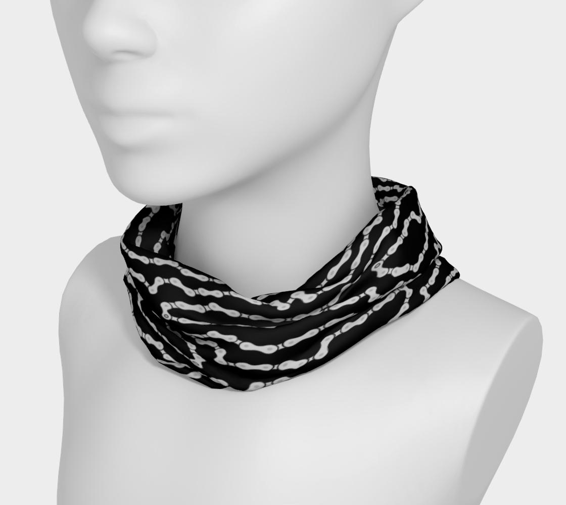 Bike Chain Headband/scarf/nose mask- Black preview #3