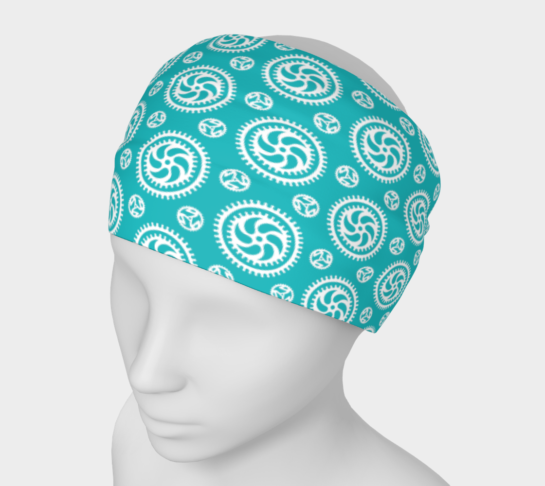 Aperçu de Bike Chainring Scarf / Headband / mask - aqua