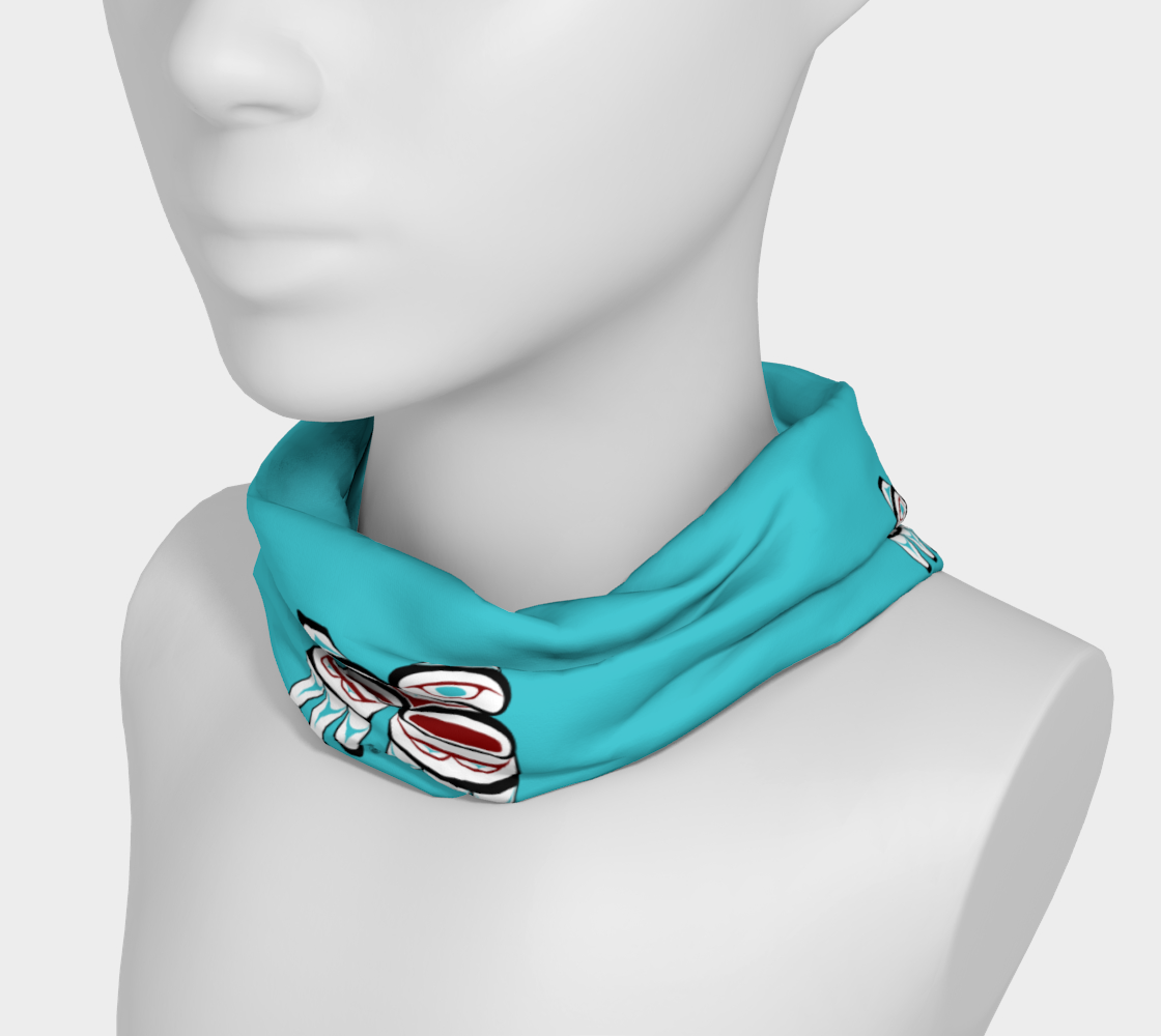 Tlingit Formline 3 Owl Headband preview #3