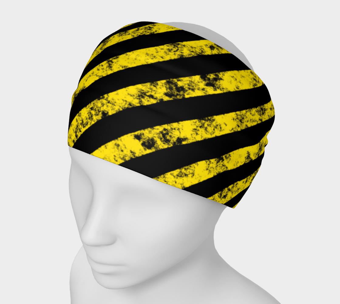 Aperçu de Grunge Black Yellow Caution Stripes